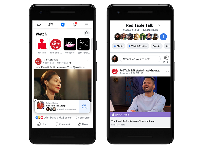 Facebook chce dát na své videoplatformě Watch tvůrcům více možností si vydělat, zdroj: Facebook.