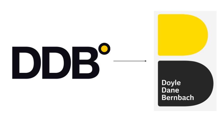 Změna loga agentury DDB, zdroj: DDB