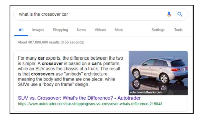 Featured snippet neboli nultá pozice ve výsledcích vyhledávání Google, zdroj Google