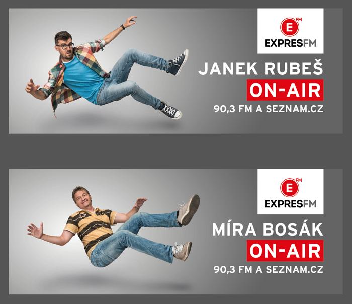 Vizuály nové kampaně rádia Expres FM, zdroj: Seznam.cz