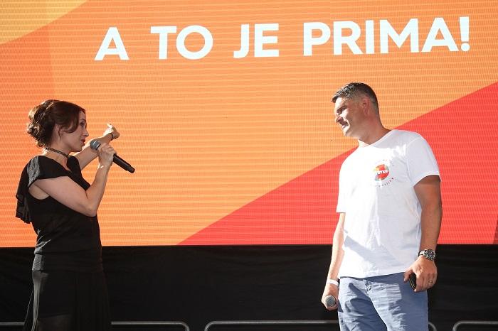Tereza Kostková a Marek Singer na tiskové konferenci, foto: FTV Prima
