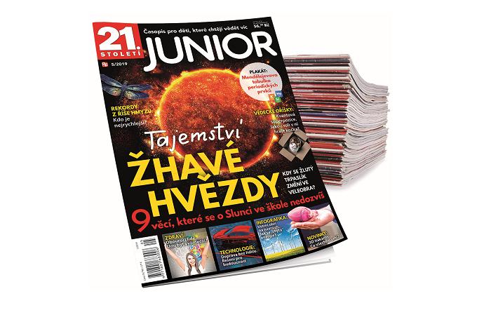 Nová titulní strana časopisu 21. století Junior, zdroj: RF Hobby