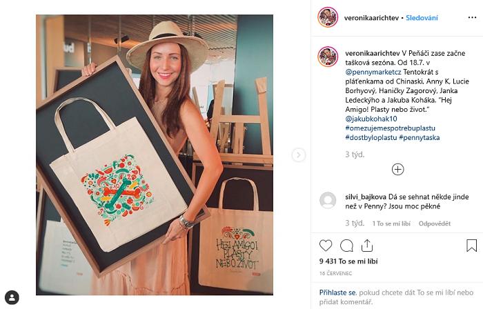 Lednová kampaň Penny Marketu měla tisíce shlédnutí, aktuální červencovou proto přišli podpořit i tváře té zimní. Zdroj: Instagram Veroniky Arichtev