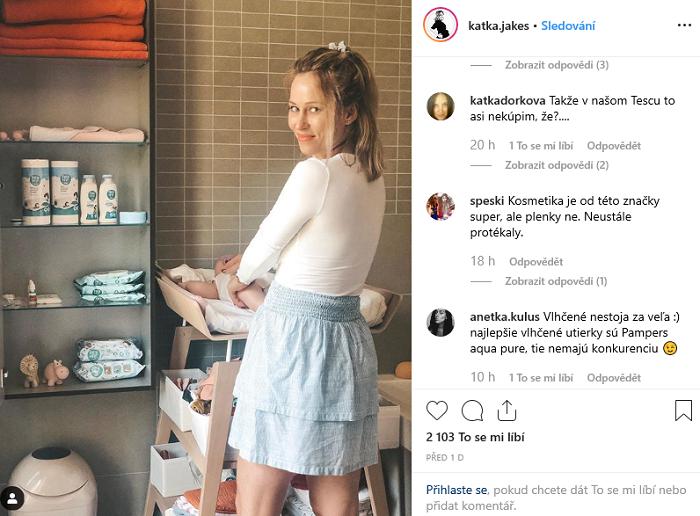 Produkty značky Fred & Flo na svém profilu nabízí i Kateřina Jakeš. Zdroj: Instagram Kateřiny Jakeš