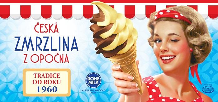 Letošní klíčový vizuál na venkovní reklamu, zdroj: FB České zmrzliny z Opočna