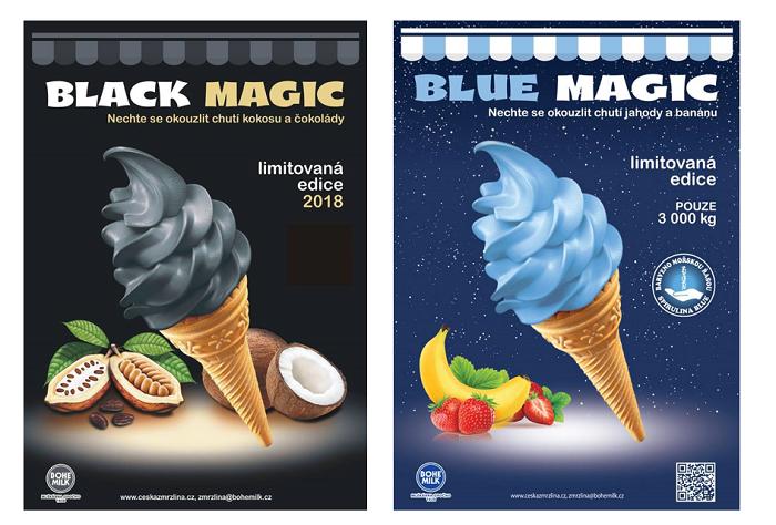 Loňská i letošní limitovaná edice si pohrála s nezvyklou barvou zmrzliny, zdroj: FB Česká zmrzlina z Opočna.