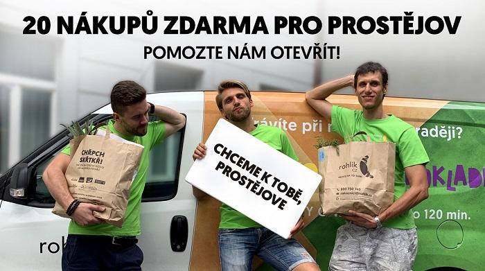 Rohlík vyzval zákazníky, ať pošlou alespoň 2000 emailů a začne u nich rozvážet, Prostějov to splnil za pět dní, zdroj: Rohlik.cz.