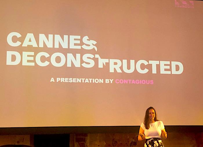 Chloe Markowitz z Contagious na konferenci Cannes Deconstructed, foto: MediaGuru.cz