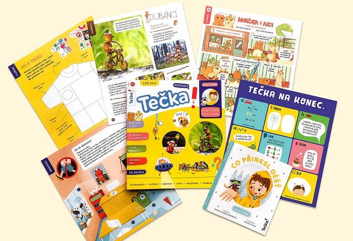 Titulní strana a vnitřní strany magazínu Tečka, foto: Mladá fronta