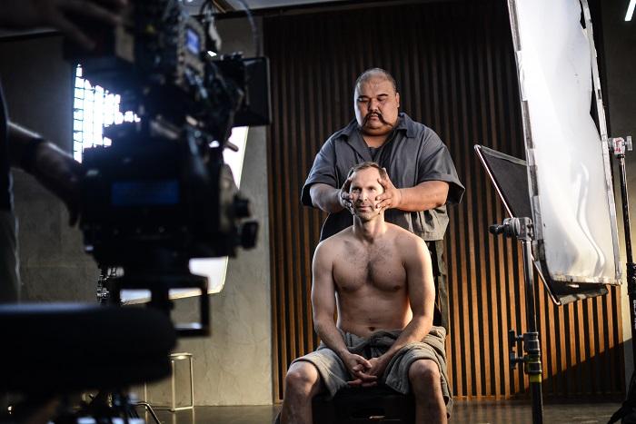 Z natáčení reklamního spotu s Petrem Čechem, zdroj: Livesport
