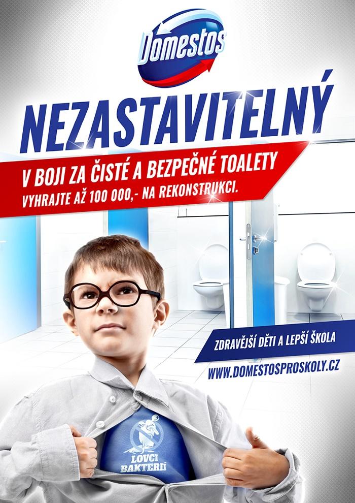 Klíčový vizuál ke kampani Domestos pro školy, zdroj: Unilever