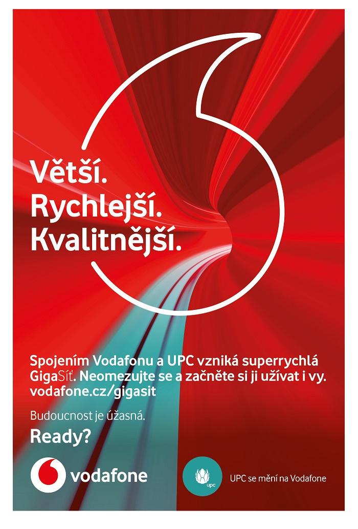 Jeden z klíčových vizuálů nové kampaně Vodafonu a UPC, zdroj: Vodafone