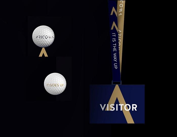Ukázka aplikace vizuální identity značky Aricoma, zdroj: Aetna