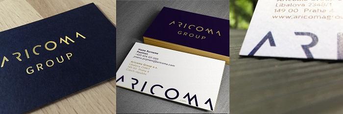 Vizitky nové značky Aricoma, zdroj: Aetna