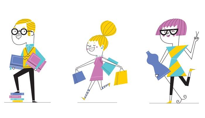 Nová vizuální identita pracuje s animovanými postavačkami, jejich autorem je ilustrátor Jan Vajda, zdroj: Cvrk.