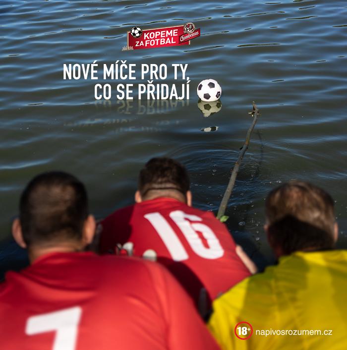 Kampaň upozorňuje na možnosti podpory amatérským fotbalovým klubům, zdroj: Triad.