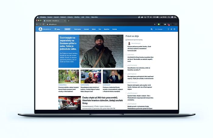 Nová home page Aktuálně.cz, zdroj: Economia