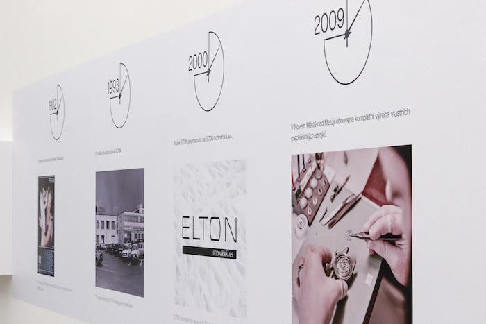 Při prezentaci je kladen důraz i na historii značky Prim, zdroj: Elton hodinářská.