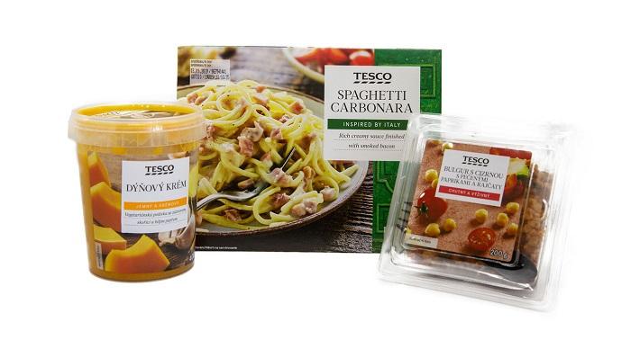 Tesco nabízí nově 50 druhů hotových jídel, zdroj: Tesco ČR.