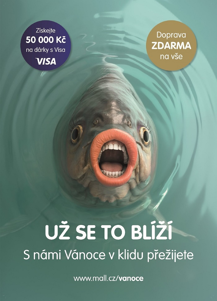 Klíčový vizuál k vánoční kampani Mall.cz, zdroj: Mall.cz
