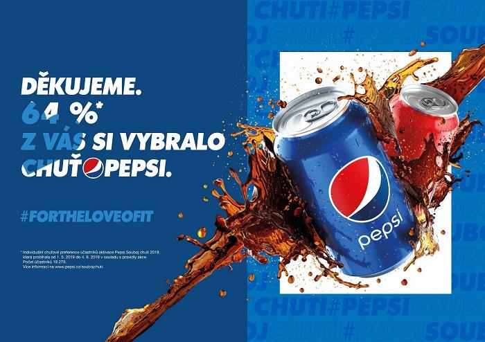 Klíčový vizuál k letošní děkovné kampani Pepsi, zdroj: PepsiCo