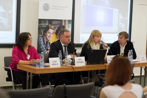 Vilma Hušková (RRTV), Aleš Rozehnal (Bankovní institut vysoká škola), Anna Matušková (FSV UK) a Jan Zilvar (ÚPDTO, agentura Czechberry).