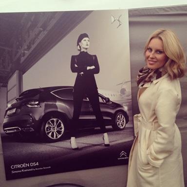 Simona Krainová v reklamě na Citroën