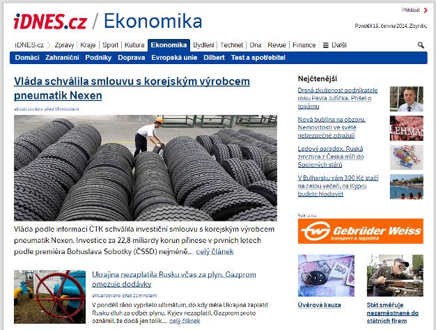 Nová pdoba iDnes.cz