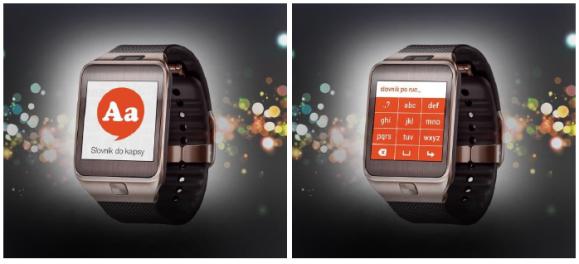 Ukázka připravované aplikace Slovník do kapsy pro chytré hodinky
