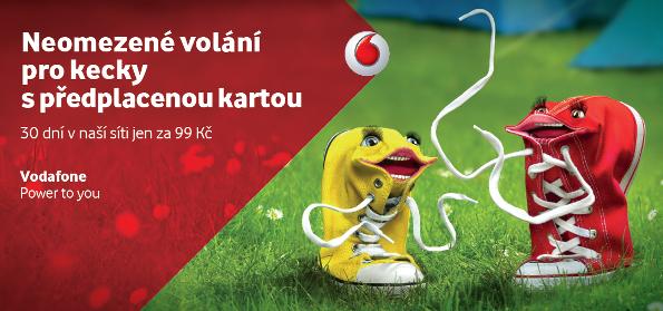 Klíčový vizuál letní kampaně Vodafone
