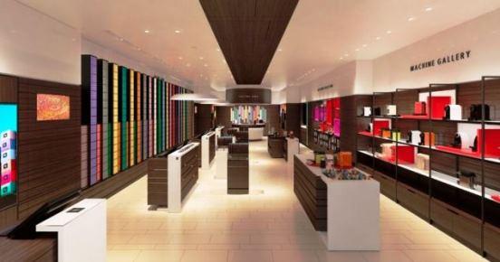 Nespresso Boutique v Centru Černý Most - vizualizace