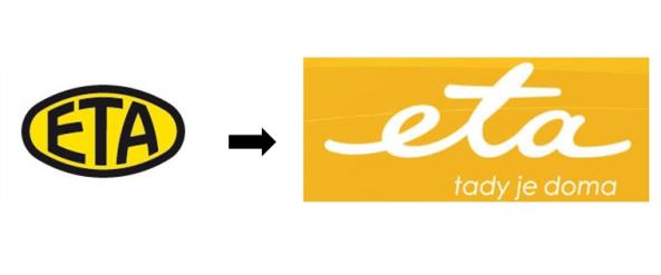 Eta  - změna loga v roce 2008