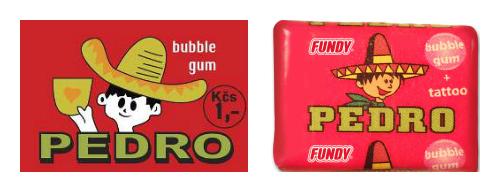 Žvýkačky Pedro za staré a nové éry
