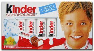 Obal Kinder čokolády s Günterem Euringerem