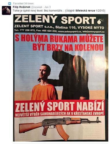 Foto: Repro twitter účet Filip Rožánek, který na reklamu upozornil.