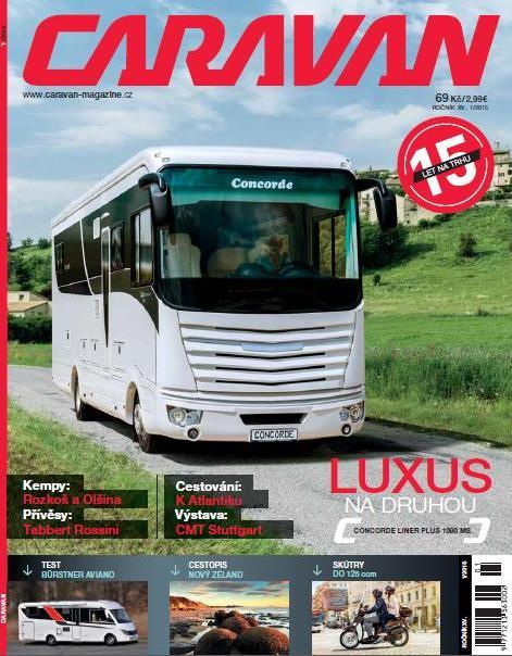 Aktuální titulka časopisu Caravan