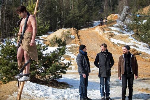 Pavel Batěk, Jiří Langmajer a Stanislav Majer v seriálu Labyrint