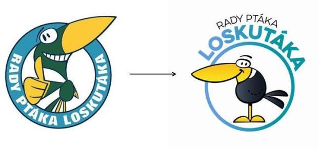 Nové logo pořadu Rady ptáka Loskutáka