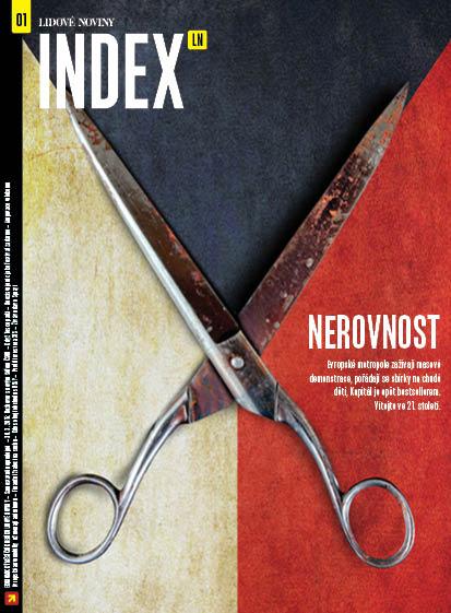 Titulní strana magazínu Index LN