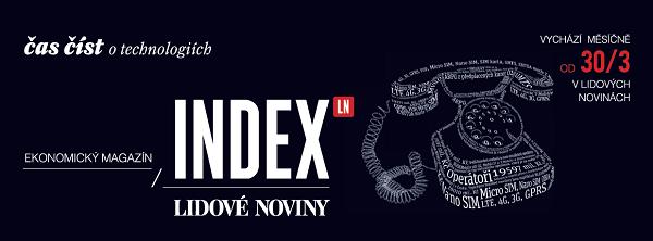 Vizuál podporující magazín Index