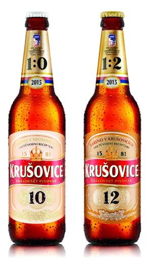 Hokejové obaly pivní značky Krušovice