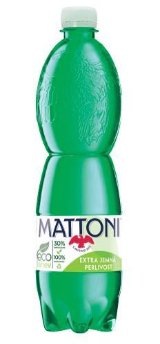 Nová Mattoni extra jemně perlivá v litrové eco-lahvi