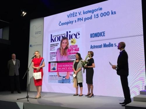 Vítězem v kategorii Časopis s prodaným nákladem pod 15 tisíc kusů se stala Kondice