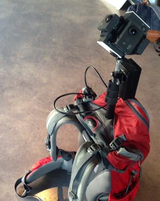 Batoh pro snímkování  těžko přístupných míst