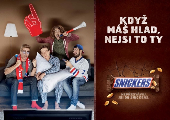 Klíčový vizuál lokální kampaně Snickers