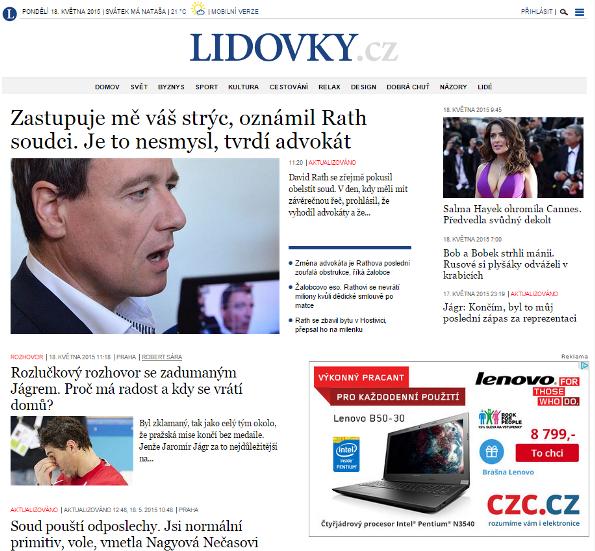 Nová podoba webu Lidovky.cz