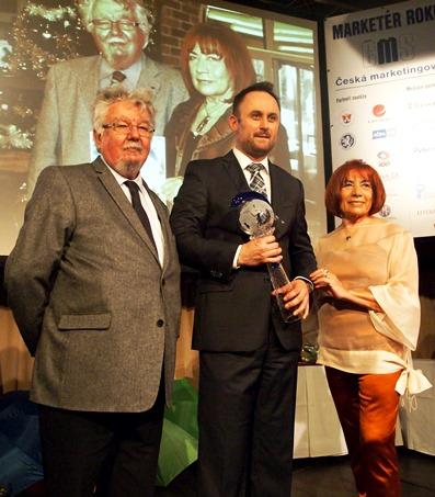 Tomáš Gregořica, marketér roku 2014 (uprostřed)