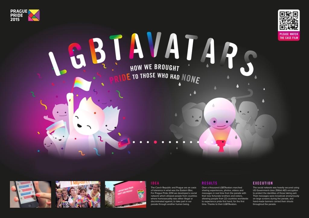 Prezentace kampaně LGBTAvatars, kliknutím zvětšíte
