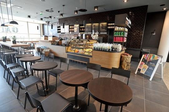 Starbucks - Galerie Vaňkovka, Brno. Foto: Starbucks