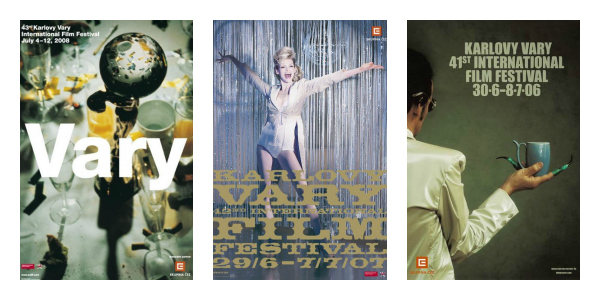 Plakáty 43., 42. a 41. ročníku, zdroj: KVIFF
